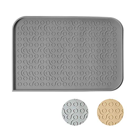 WooPet! Pet Feeding Mat 24'x16' Grey Extra Large,...