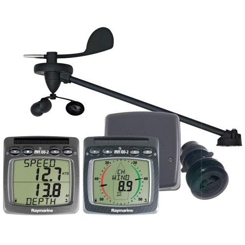 Raymarine Wireless Speed Depth Wind System W/ Triducer T108-916 (Transducer Speed Raymarine Depth)