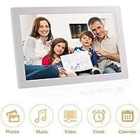 Marco digital de fotos de 15 pulgadas 1024X768 Alta resolución Pantalla IPS completa Foto / Música / Reproductor de video Calendario Alarma Temporizador de encendido / apagado automático, soporte USB y tarjeta SD