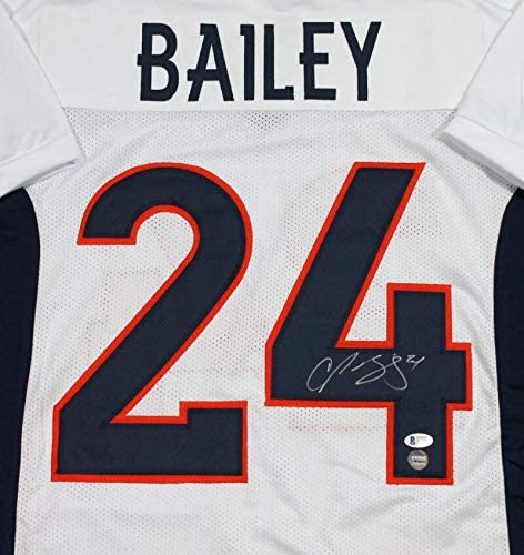 Champ Bailey Autographed White Pro Style Jersey - Beckett W Silver ...