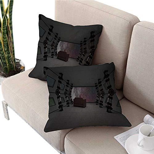 longbuyer IKEA Pillow Covers Spaceship Launching to New World in Universe Across Shooting Star Square Cushion Case W 16