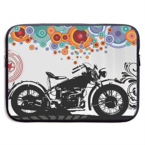 Motorcycle Abstract Circle Modern Life Laptop Sleeve Case Bags Sleeve Cover Bag Protection Tablet Case for 15 Inch Computer