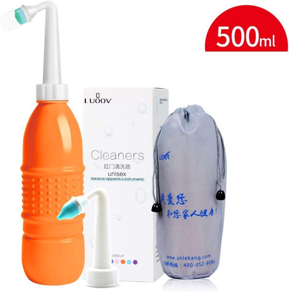 Soft with Storage Bag Portable Bidet for Toilet Handheld Bidet Sprayer -500ml Travel Bidet,Personal Hygiene Bidets Cleaning Device White