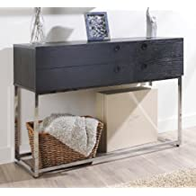 Furniture of America Enitial Lab Mia 4-Drawer Modern Console/Sofa Table, Black