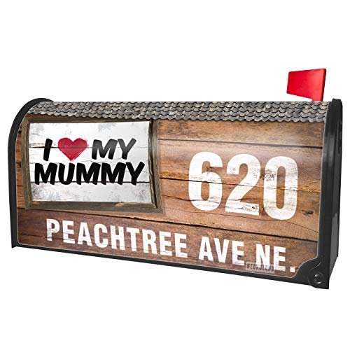 NEONBLOND Custom Mailbox Cover I Heart Love My Mummy ()