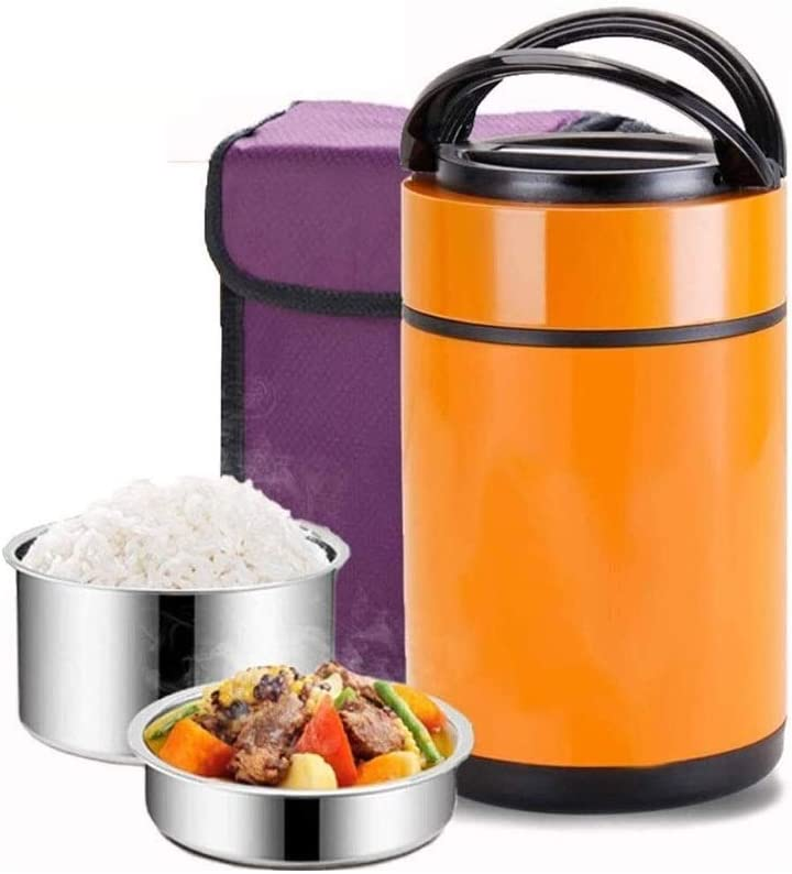 CffdoiFanh Bento Box, Lunch Box Thermoses Insulated Food Storage, Stainless Steel Container Thermos Leak Proof Design Food Jar for Kids School Picnic Office Outdoors,Bento-Styled Lunch Solution Offers