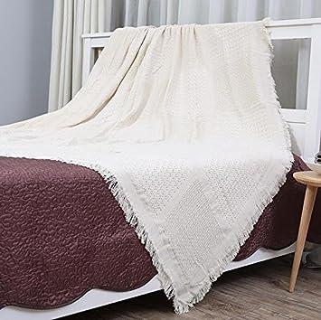 BDZLL Thread Baumwolldecke, Volltonfarbe gepolsterte Sofa Decke ...