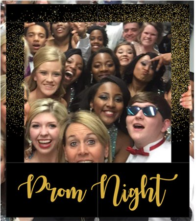 Aahs Engraving Prom Night Party Frame Photo Prop, 35 X 30 -