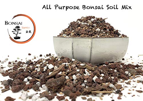 Bonsai All Purpose Soil Mix | Fast Draining Pre Blend (2 Quart Bag) Plant | Pumice, Lava, Calcined Clay and Pine Bark ● Potting Pre Mixed Bonsai Plant Soil Mixture by The Bonsai Supply ()