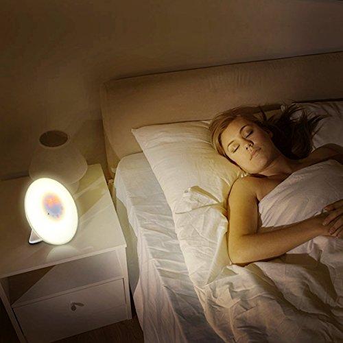 Wake Up Light Tomtoo Sunrise Simulation Alarm Clock Nature Night 5 Colors Atmosphere Lamp