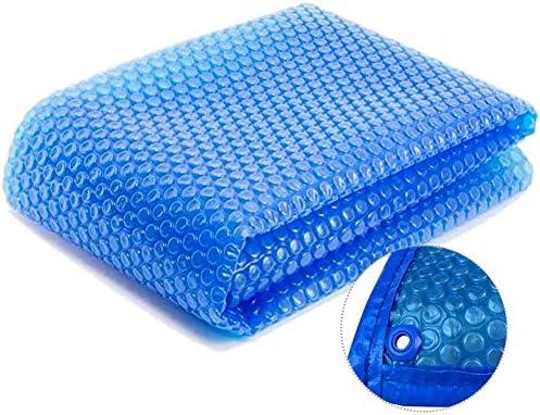 ターポリン グロメット付きプールカバー、地下プール上部の地下用長方形ソーラーカバー、防水断熱材、1/2/3/4m幅 (Color : Blue, Size : 2×8 m(6.56×26.25 ft))