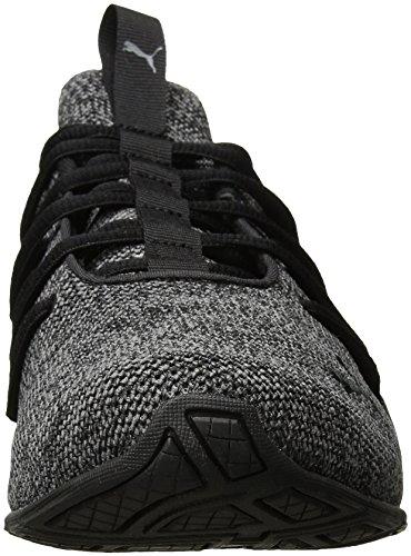 Puma Men's Axelion Sneaker, Quarrys/Shaderd Puma Black-quiet Shade