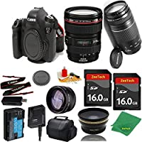 Great Value Bundle for 6D DSLR – 24-105MM L + 75-300MM III + 2PCS 16GB Memory + Wide Angle + Telephoto Lens + Case