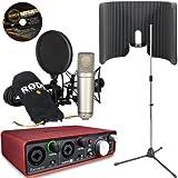 RODE NT1-A Studio USB Interface Kit - Scarlett 2i2 + VoxGuard + Tripod Mic Stand