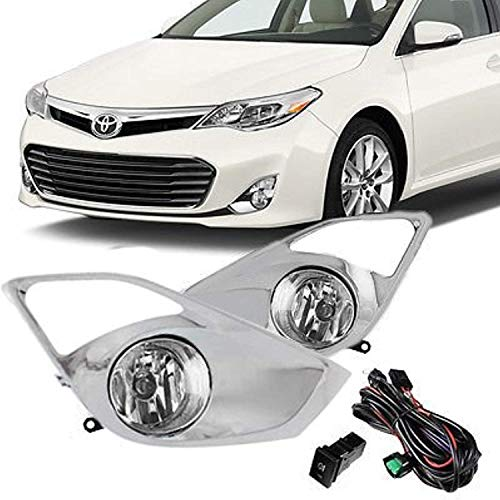 Remarkable Power Front Pair Fog Lights Bumper Lamps w/Switch Wiring Fit For 2013 2014 2015 Toyotaa Avalon FL7026