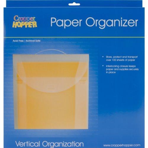 (Advantus Cropper Hopper Paper Organizer, Frost, 12-Inch by 12-Inch )
