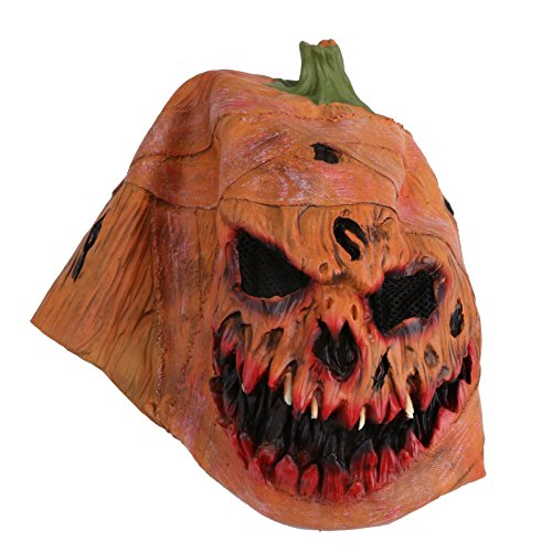 Amazon.com: Pumpkin Head Mask, Latex Scarlet Scary Mask with Mesh Props for Masquerade Halloween: Home & Kitchen