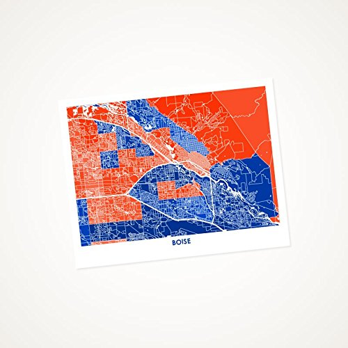 Amazon Com Boise Idaho Art Map Print Choose Your Colors And Size