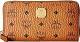 MCM Women's Heritage Large Zipped Wallet Cognac Wallets