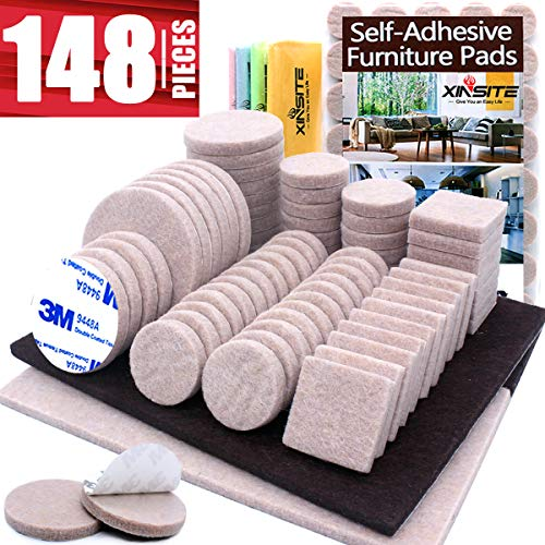 Furniture Pads 148pcs Self Adhesive Felt Furniture Pads for Anti Scratch Thick 0.2
