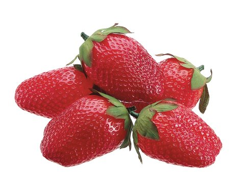 2.5'' Soft Strawberry (5 ea./ bag) Red (Pack of 24) by Silk Decor