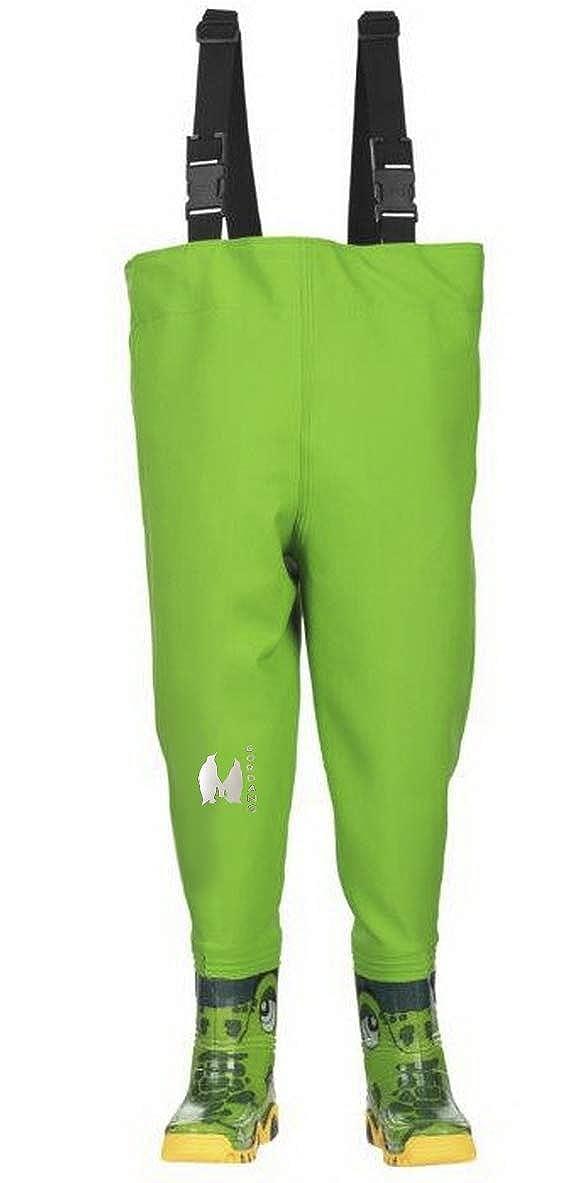 Grün 32-33 EU (13-1 UK) 21 cm Gordano Kinder-Angelhose, mit Stiefeln, Größe 22–35