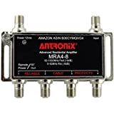 Amplifier, Cable TV RF Broadband 8dB Gain Four Output 5-1002Mhz w/ Power Adapter
