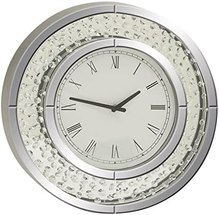 Deco 79 87310 Wood Mirror Wall Clock, 20