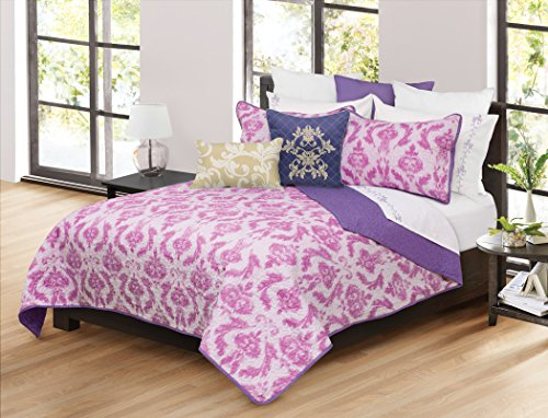 Garnet Hill Kids - Safdie 60113.3DQ.12 Capri Full/Queen Pink Quilt Set (3 Piece)