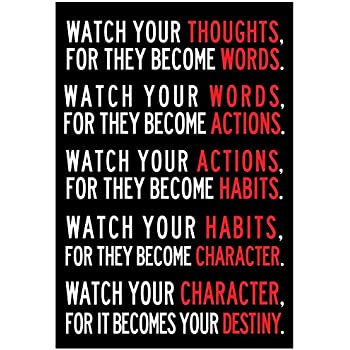 Watch Your Thoughts Motivational Poster 13 x 19in