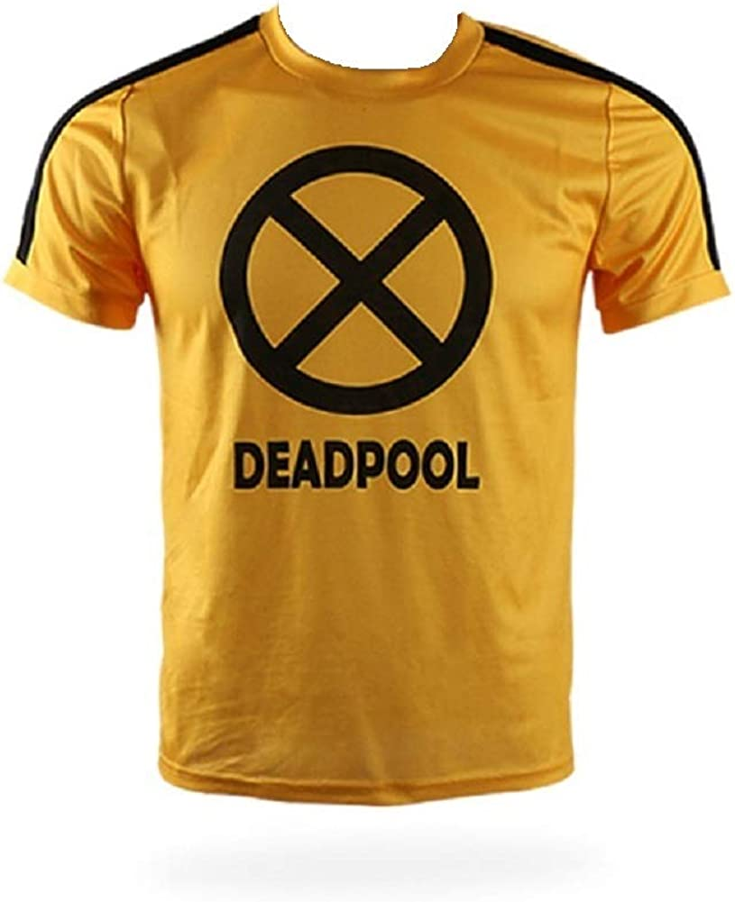 Deadpool 2 Trainee T-Shirt Superhero Yellow Short Sleeve Cosplay X-Men Tee To Ou