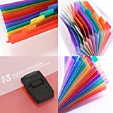 13 Pockets Small Accordion Rainbow Expanding Folder A6 Mini Index File Folder