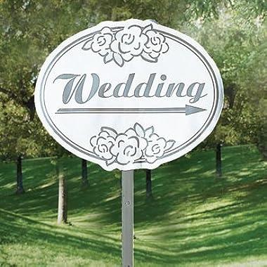 Fun Express - Cardboard Wedding Yard Sign (1-Pack)