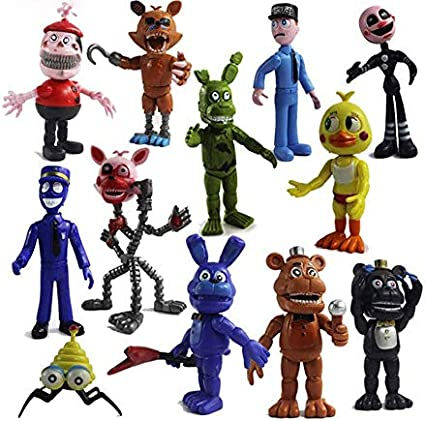 Figures Set shajiahao 12 Pack Five Nights at Freddys Action Figures Toys Cake Toppers Play Set Gifts