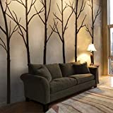 Winter Tree Wall decal - living room wall decals Wall Sticker, Home decor - Wall Decor(8 feet, custom color)