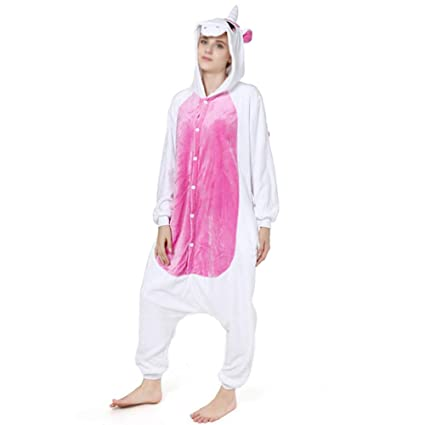 Love Home Unisex Adulto Cartoon Animal Unicornio Pijamas Ropa De Dormir con Capucha Traje De Cosplay