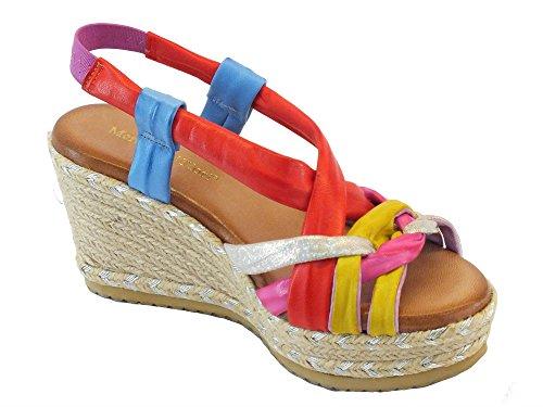 Mercante di Fiori 9308 Multicolor - Sandalias de vestir de Piel para mujer Multicolor