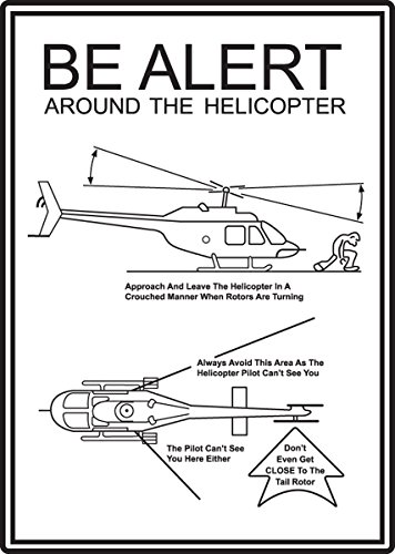 Helicopter Graphic - Accuform MVTR501VA Aluminum Safety Sign, Legend