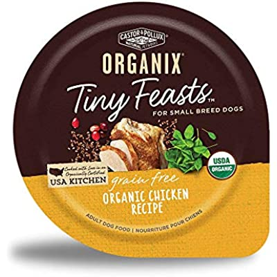 Castor & Pollux Organix Tiny Feasts Grain Free Organic Chicken Recipe Wet Dog Food