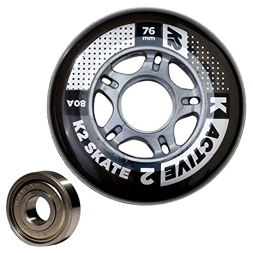 K2 76mm Inline Skate Wheel & Bearing 8-Pack Kit – DiZiSports Store