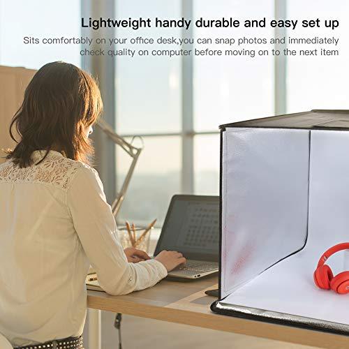 ESDDI Studio Light Box Brightness Portable & Loop Booth Top Photography Lighting Kit 120 Colors