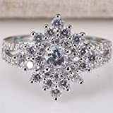 Women Fashion 925 Silver White Sapphire Gemstone Ring Wedding Jewelry Size 6-10 (8)