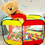 WER Ball Pit Play Tent for Kids - 6-sided Playhouse for Children - Fill with Plastic Balls (Balls Not Included) or Use As an Indoor or Outdoor Tent