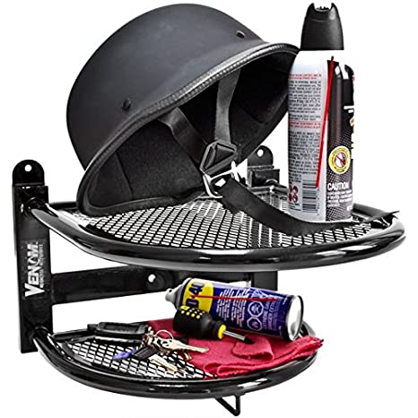 Venom Wall Mounted Motorcycle Helmet Gloves and Jacket Shelf - Gear and Tool Storage  sc 1 st  Amazon.com & Amazon.com: Venom Wall Mounted Motorcycle Helmet Gloves and Jacket ...