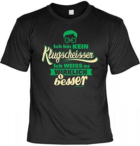 T-Shirt Set mit Minishirt - Ich bin kein Klugscheißer - witziges Spruchshirt als Geschenk für Besserwisser