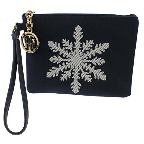 - Tommy Hilfiger Women's Snowflake Nylon Wristlet, Navy Blue