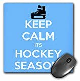 3dRose Keep Calm Its Hockey Se