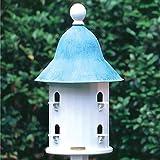 17'' Fully Functional Enchanted Blue Verde Bell Outdoor Garden Birdhouse