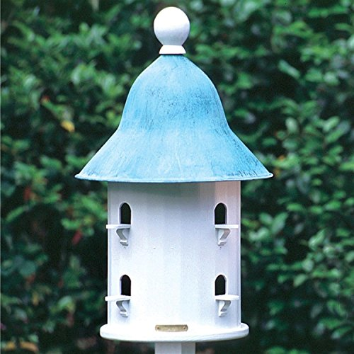 17'' Fully Functional Enchanted Blue Verde Bell Outdoor Garden Birdhouse by CC Home Furnishings