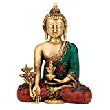 CraftVatika Beautiful Medicine Buddha statue Thai Buddhism Idol Buddhist Home decor
